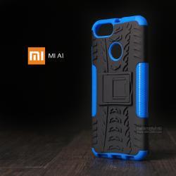 เคส Xiaomi Mi A1 เคสบั๊มเปอร์ กันกระแทก Defender (พร้อมขาตั้ง) สีน้ำเงิน