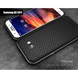 เคส Samsung A5 (2017) เคส iPaky Hybrid Bumper เคสนิ่มพร้อมขอบบั๊มเปอร์ สีดำ ขอบเทา (GRAY)