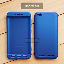 เคส Xiaomi Redmi 5A เคสแข็ง 3 ส่วน ครอบคลุม 360 องศา (สีน้ำเงิน - น้ำเงิน)