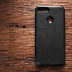 เคส Huawei Y6 Prime เคสนิ่ม เกรดพรีเมี่ยม ลายหนัง (ขอบนูนกันกล้อง) แบบที่ 1