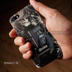 เคส iPhone 5 / 5S / SE เคส TPU พิมพ์ลาย แผงวงจรแตก