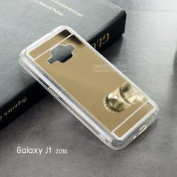 เคส Samsung Galaxy J1 (2016) เคส TPU (เคสนิ่ม) พื้นหลังผิวเงา สีทอง