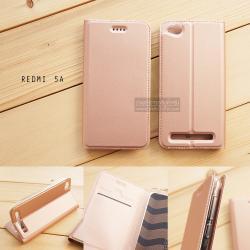 เคส Xiaomi Redmi 5A เคสฝาพับเกรดพรีเมี่ยม เย็บขอบ พับเป็นขาตั้งได้ สีโรสโกลด์ (DUX DUCIS)
