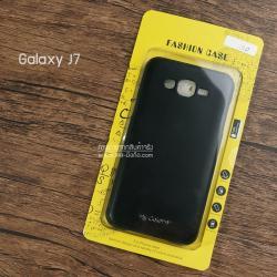 เคส Samsung Galaxy J7 เคสนิ่ม คุณภาพ พรีเมียม ลายหนัง สีดำ (Classic)