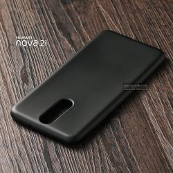 เคส Huawei Nova 2i เคสนิ่ม TPU สีเรียบ สีดำ