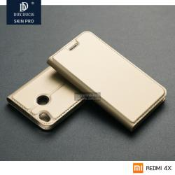 เคส Xiaomi REDMI 4X เคสฝาพับเกรดพรีเมี่ยม (เย็บขอบ) พับเป็นขาตั้งได้ สีทอง (Dux Ducis)