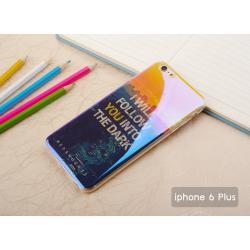 """เคส iPhone 6 Plus (5.5"""" นิ้ว) เคส TPU พื้นผิวเงาสะท้อน (Blu-ray Series) แบบที่ 1 I will follow you into the dark"""