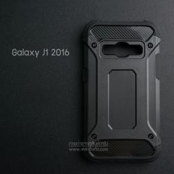 เคส Samsung Galaxy J1 (2016) เคสบั๊มเปอร์ (เสริมขอบกันกระแทก) สีดำ Hybrid Protection