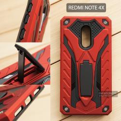 เคส Xiaomi Redmi Note 4X เคสบั๊มเปอร์ กันกระแทก Defender 2 ชั้น (พร้อมขาตั้ง) สีแดง (แบบที่ 2)