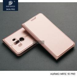 เคส Huawei Mate 10 Pro เคสฝาพับเกรดพรีเมี่ยม (เย็บขอบ) พับเป็นขาตั้งได้ สีโรสโกลด์ (Dux Ducis)