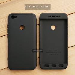 เคส Xiaomi Redmi Note 5A Prime เคสแข็ง 3 ส่วน ครอบคลุม 360 องศา (สีดำ - ดำ)
