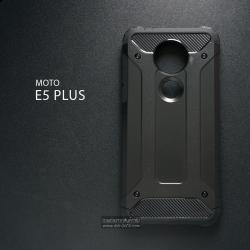 เคส MOTO E5 PLUS เคสบั๊มเปอร์ (เสริมขอบกันกระแทก) สีดำ Hybrid Protection