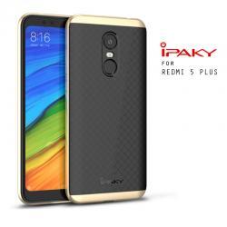เคส Xiaomi Redmi 5 Plus เคส Hybrid iPaky เคสนิ่มกันกระแทกเสริมขอบ PC สีดำทอง