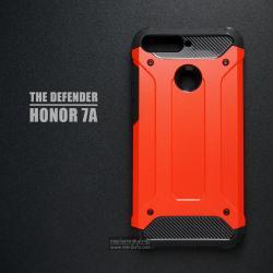 เคส Honor 7A เคสบั๊มเปอร์ (เสริมขอบกันกระแทก) สีส้มอมแดง Hybrid Protection