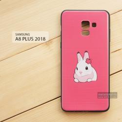 เคส Samsung Galaxy A8+ (PLUS) 2018 เคสนิ่ม TPU พิมพ์ลาย (ขอบดำ) แบบที่ 5