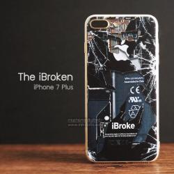 เคส iPhone 7 Plus และ 8 Plus เคสนิ่ม TPU พิมพ์ลาย iBroke