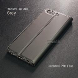 เคส Huawei P10 Plus เคสฝาพับเกรดพรีเมี่ยม เย็บขอบ พับเป็นขาตั้งได้ สีเทา (Dux Ducis)