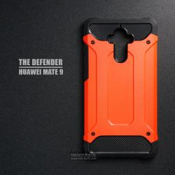 เคส Huawei Mate 9 เคสบั๊มเปอร์ (เสริมขอบกันกระแทก) สีส้มอมแดง Hybrid Protection