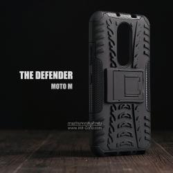 เคส Moto M เคสบั๊มเปอร์ กันกระแทก Defender (พร้อมขาตั้ง) สีดำ