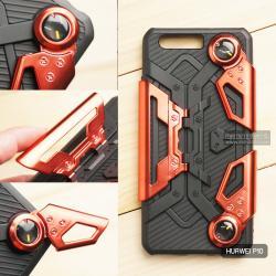 เคส Huawei P10 เคสนิ่ม Hybrid (GAMER CASE) พร้อมขาตั้ง + ที่จับสำหรับเล่นเกม (สีแดง)