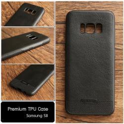 เคส Samsung Galaxy S8 เคสนิ่มเกรดพรีเมี่ยม (ลายหนัง) สีดำ