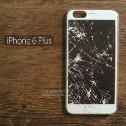 เคส iPhone 6 Plus เคสนิ่ม TPU พิมพ์ลาย หน้าจอแตก