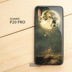 เคส Huawei P20 Pro เคสขอบยางดำ + กระจกกันรอยครอบทับหลังเคส เกรดพรีเมี่ยม พิมพ์ลาย แบบที่ 2