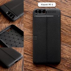 เคส Xiaomi MI 6 เคสนิ่ม Hybrid เกรดพรีเมี่ยม ลายหนัง (ขอบนูนกันกล้อง) แบบที่ 2 (มีเส้นตรงกลาง)