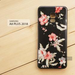 เคส Samsung Galaxy A8+ (PLUS) 2018 เคสนิ่ม TPU พิมพ์ลาย (ขอบดำ) แบบที่ 8