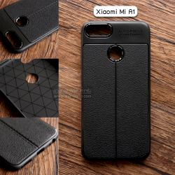 เคส Xiaomi Mi A1 เคสนิ่ม Hybrid เกรดพรีเมี่ยม ลายหนัง (ขอบนูนกันกล้อง) แบบที่ 2 (มีเส้นตรงกลาง)
