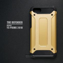 เคส Huawei Y5 Prime เคสบั๊มเปอร์ (เสริมขอบกันกระแทก) สีทอง Hybrid Protection