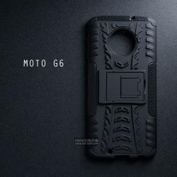 เคส MOTO G6 เคสบั๊มเปอร์ กันกระแทก Defender (พร้อมขาตั้ง) สีดำ