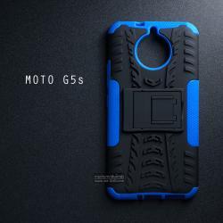 เคส Moto G5s เคสบั๊มเปอร์ กันกระแทก Defender (พร้อมขาตั้ง) สีน้ำเงิน