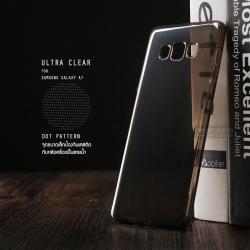 เคส Samsung Galaxy A7 เคสนิ่ม ULTRA CLEAR พร้อมจุดขนาดเล็กป้องกันเคสติดกับตัวเครื่อง สีดำใส