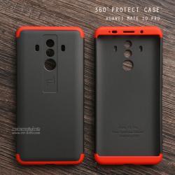 เคส Huawei Mate 10 Pro เคสแข็งแบบ 3 ส่วน ครอบคลุม 360 องศา (สีดำ - แดง)