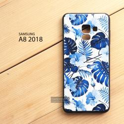 เคส Samsung Galaxy A8 2018 เคสนิ่ม TPU พิมพ์ลาย (ขอบดำ) แบบที่ 4