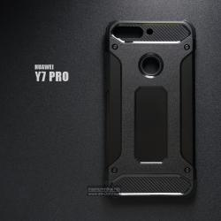 เคส Huawei Y7 PRO 2018 เคสบั๊มเปอร์ (เสริมขอบกันกระแทก) สีดำ Hybrid Protection (Series 2)