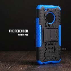 เคส Moto G5 Plus เคสบั๊มเปอร์ กันกระแทก Defender (พร้อมขาตั้ง) สีน้ำเงิน