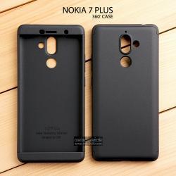 เคส Nokia 7 Plus เคสแข็งแบบ 3 ส่วน ครอบคลุม 360 องศา (สีดำ - ดำ)