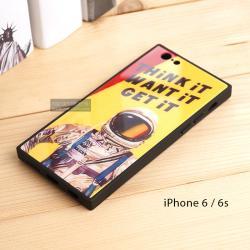 เคส iPhone 6 / 6s เคสขอบยางดำ + กระจกกันรอยครอบทับหลังเคส เกรดพรีเมี่ยม พิมพ์ลาย แบบที่ 5