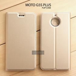 เคส Moto G5s Plus เคสฝาพับเกรดพรีเมี่ยม เย็บขอบ พับเป็นขาตั้งได้ สีทอง (DUX DUCIS)