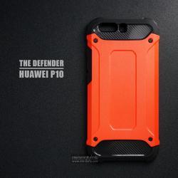 เคส Huawei P10 เคสบั๊มเปอร์ (เสริมขอบกันกระแทก) สีส้มอมแดง Hybrid Protection