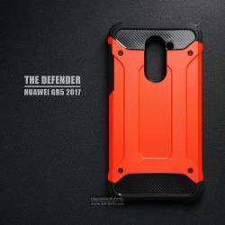เคส Huawei GR5 2017 เคสบั๊มเปอร์ (เสริมขอบกันกระแทก) สีส้มอมแดง Hybrid Protection