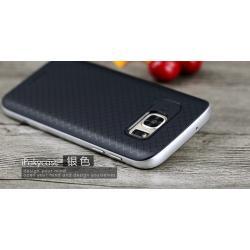เคส Samsung Galaxy S7 เคส iPaky Hybrid Bumper เคสนิ่มพร้อมขอบบั๊มเปอร์ สีดำขอบเงิน