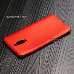 เคส Huawei Mate 9 Pro เคสนิ่ม TPU สีเรียบ สีแดง