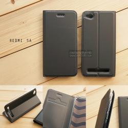เคส Xiaomi Redmi 5A เคสฝาพับเกรดพรีเมี่ยม เย็บขอบ พับเป็นขาตั้งได้ สีเทา (DUX DUCIS)