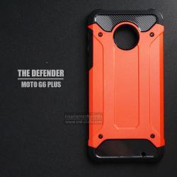เคส MOTO G6 Plus เคสบั๊มเปอร์ (เสริมขอบกันกระแทก) สีส้มเข้ม Hybrid Protection