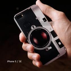 เคส iPhone 5 / 5S / SE เคส TPU พิมพ์ลาย กล้องขาวดำ LEICA