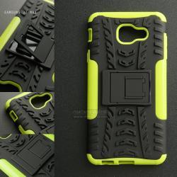 เคส Samsung Galaxy J7 Max เคสบั๊มเปอร์ กันกระแทก Defender (พร้อมขาตั้ง) สีเขียวอ่อน