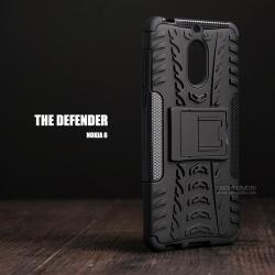 เคส Nokia 6 เคสบั๊มเปอร์ กันกระแทก Defender (พร้อมขาตั้ง) สีดำ